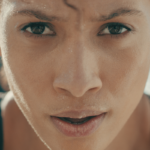 close up shot of athlete's face | resilience training