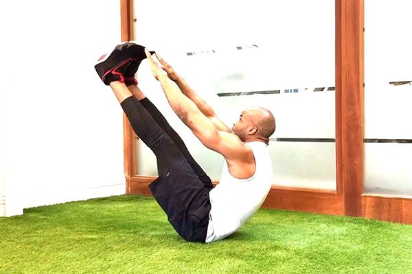v sit ups demonstration | lebron james abs workout