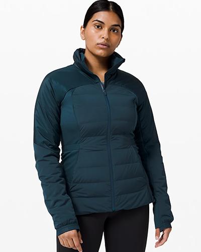 lulu lemon down for it all jacket | winter workout jackets