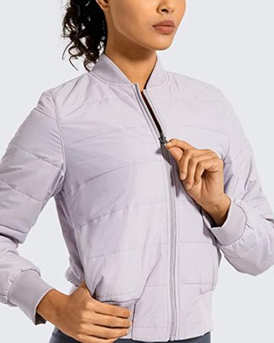 CRZ YOGA bomber jacket | winter workout jackets