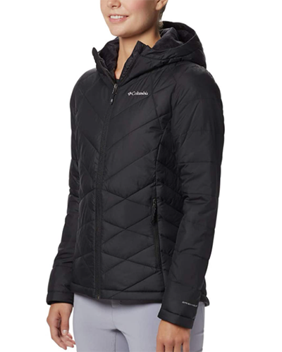 columbia heavenly hooded jacket | winter workout jackets