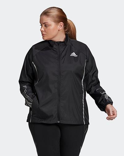 adidas glam on plus size jacket | winter workout jackets