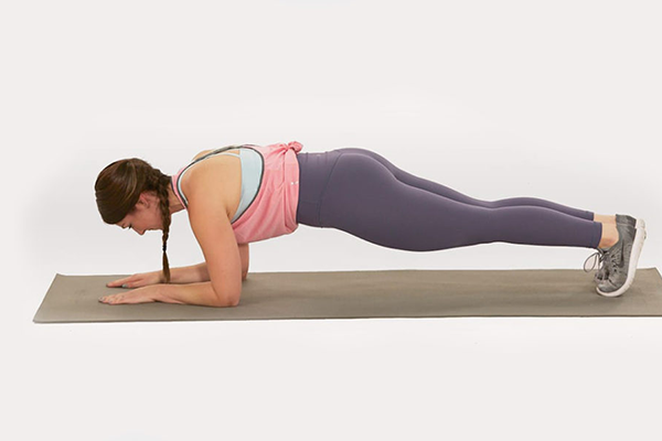 dolphin plank demonstration | yoga core workout