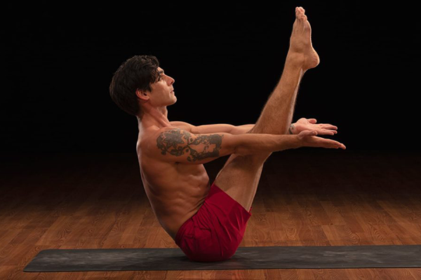 boat pose demonstration | yoga core workout