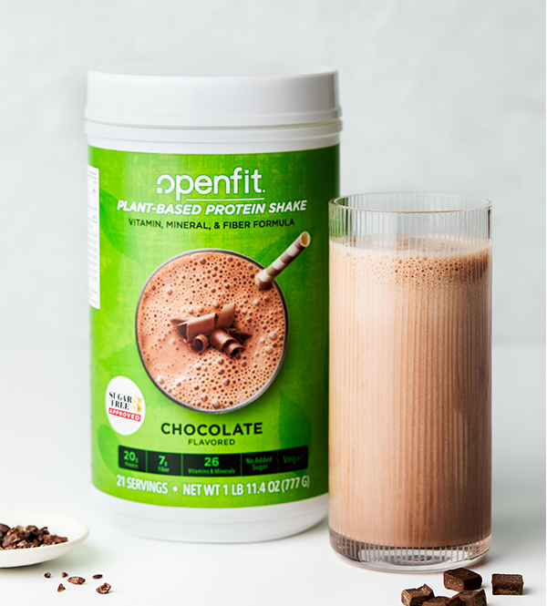 openfit plant based protein shake | how andrea uses ladder supplements