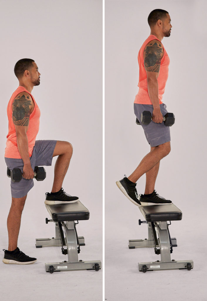 step ups | quad strengthening exercises
