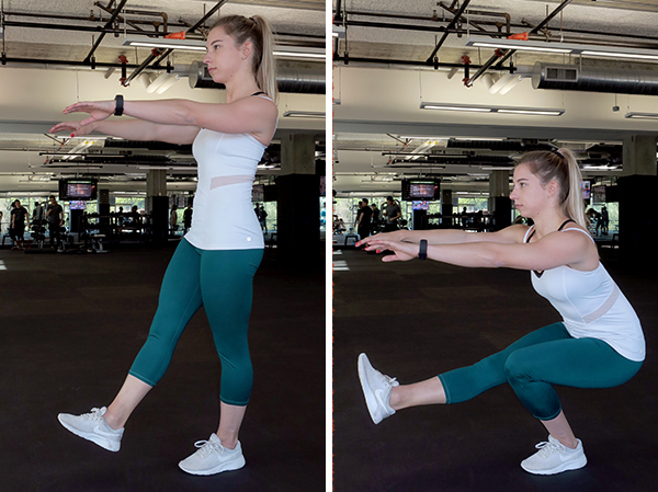 pistol squat | quad strengthening exercises
