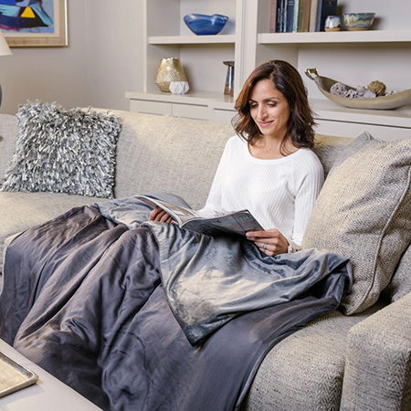 Luxome Removable Cover Weighted Blanket | best gifts for positivity