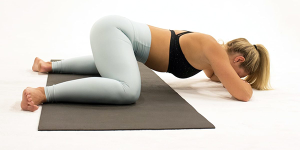frog pose | at home stretch routine