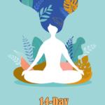 illustration of woman meditating | meditation challenge