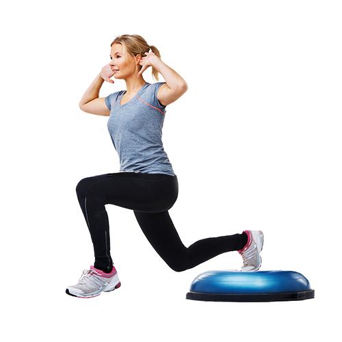 woman doing unstable split squat | proprioception exercises