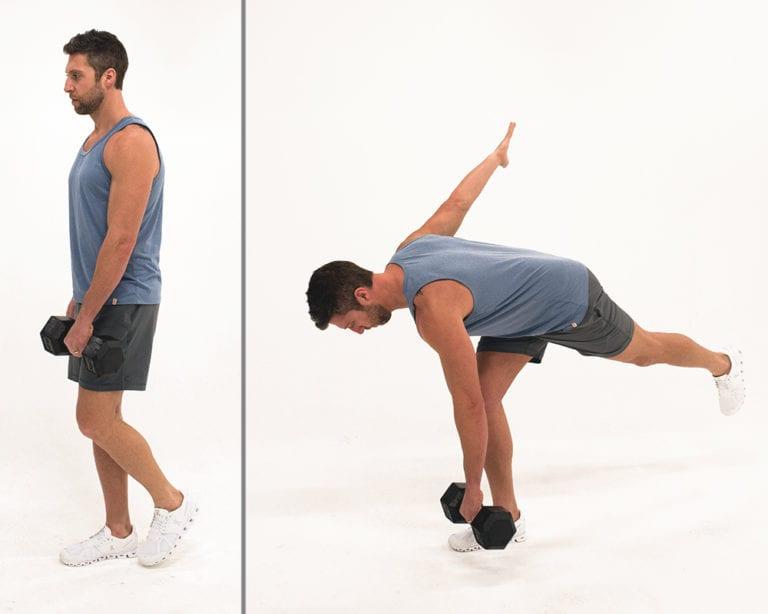 single leg deadlift | balance exercises
