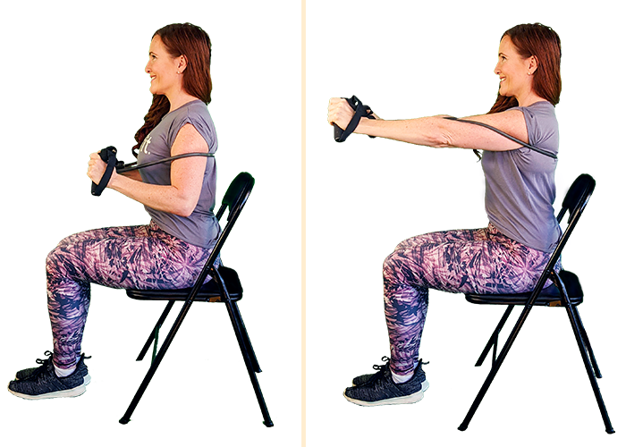 seated chest press | seated workouts