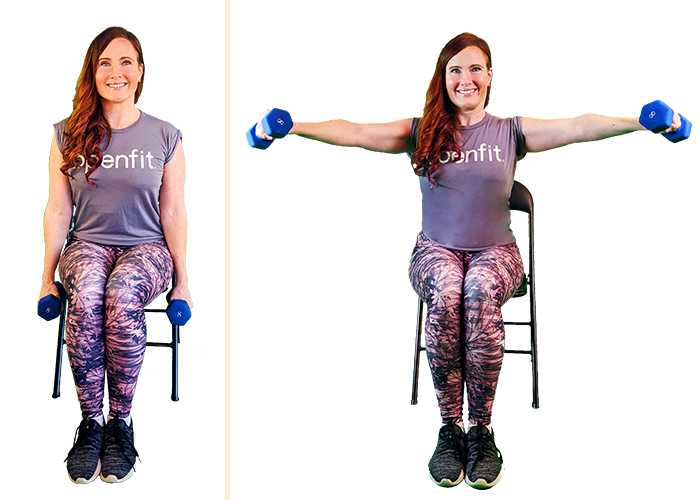 seated lateral raise | seated workouts