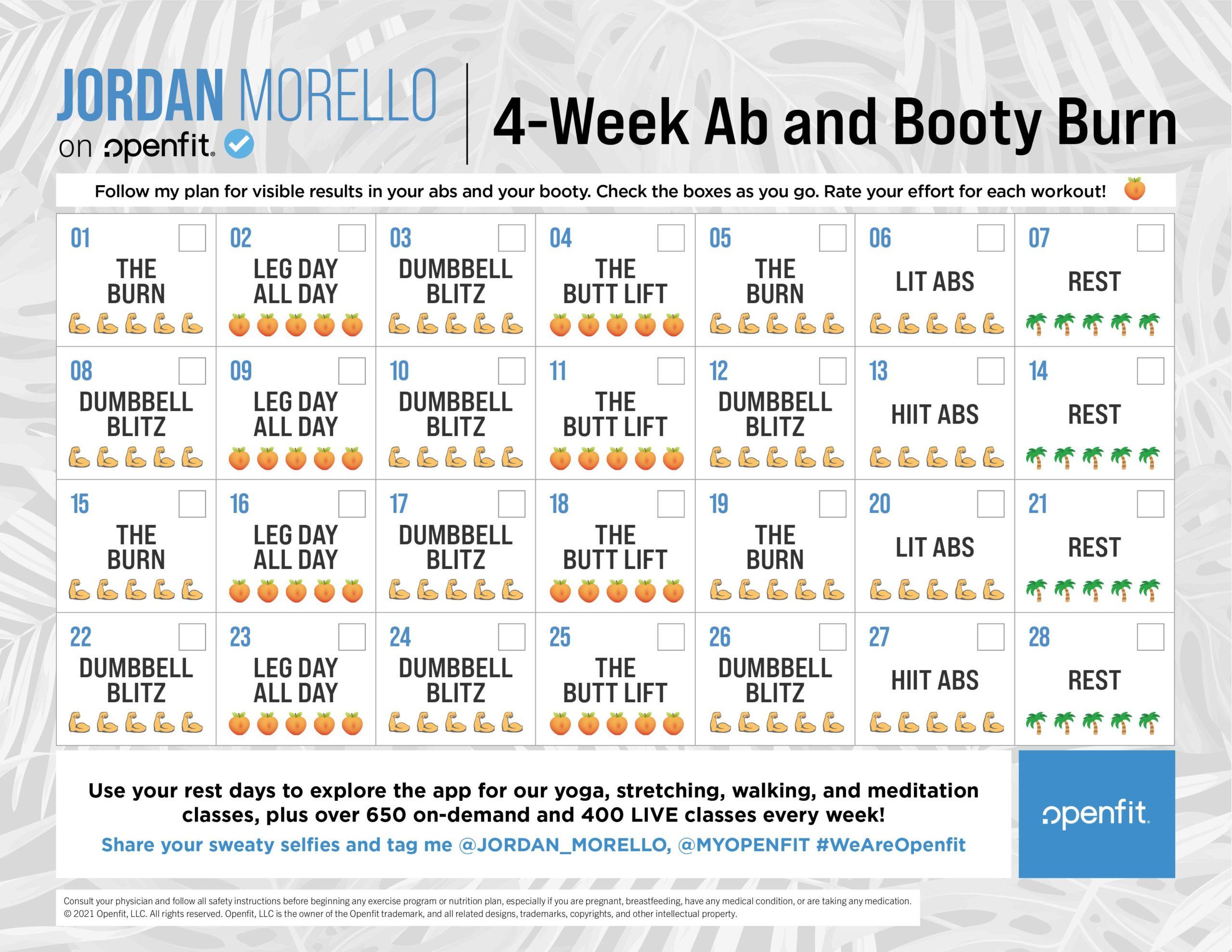 4 week jordan morello calendar