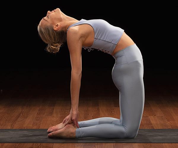 marie camel pose | yoga for self esteem