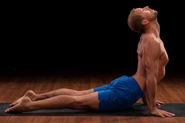 brent upward facing dog pose | yoga for self esteem