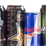 several different energy drink cans | effects of energy drinks on the body