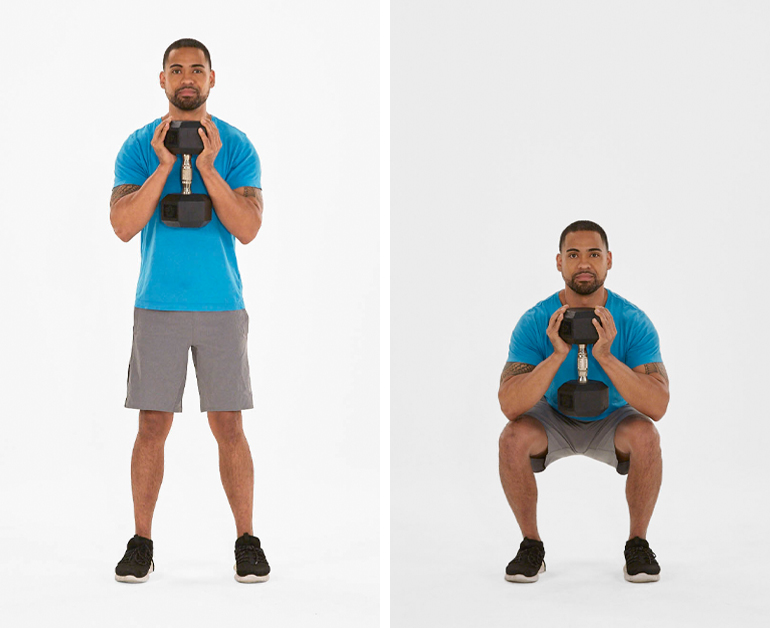 goblet squat | how many squats a day