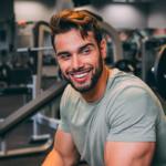 casual shot of jordan at gym