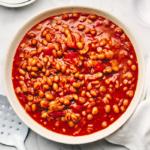 baked beans inside bowl | instant pot baked beans