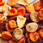 dried fruit layed out on a table | is dried fruit healthy
