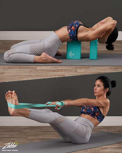 yoga strap and blocks | best stretching equipment