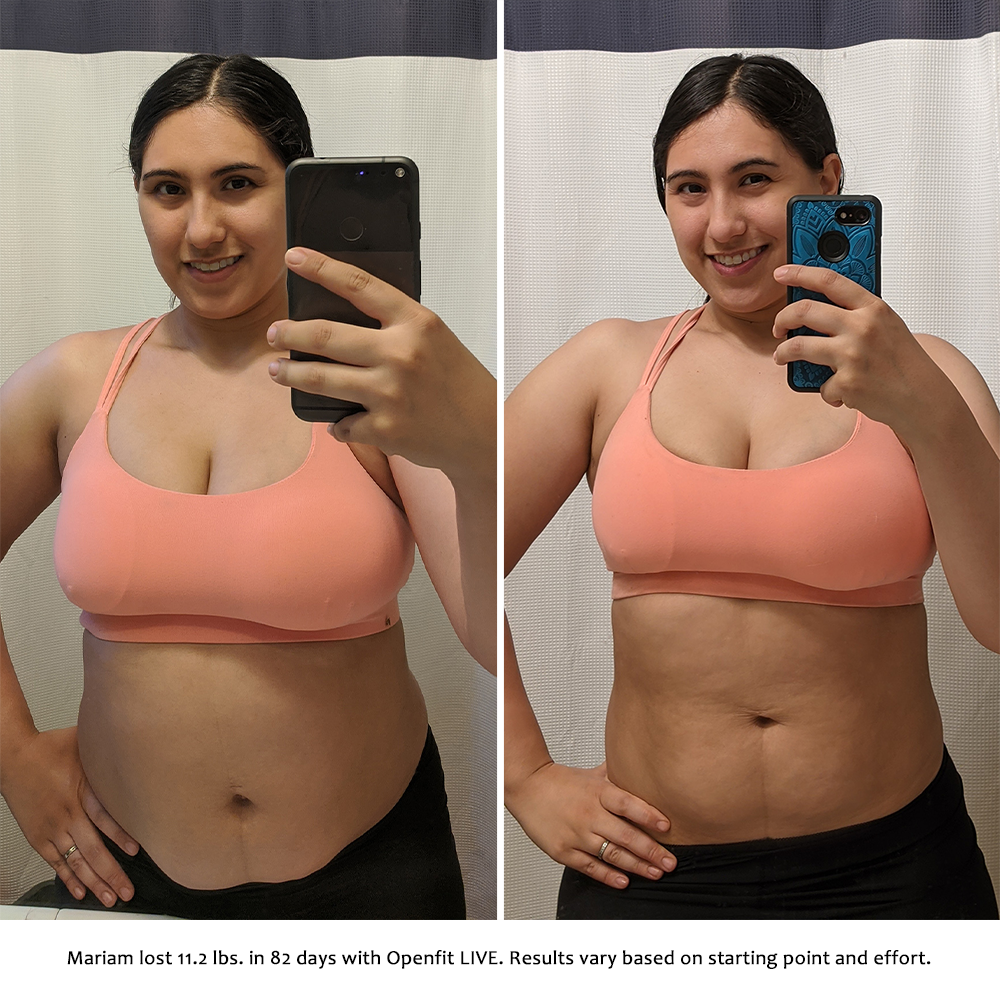 mariam before and after   openfit live results