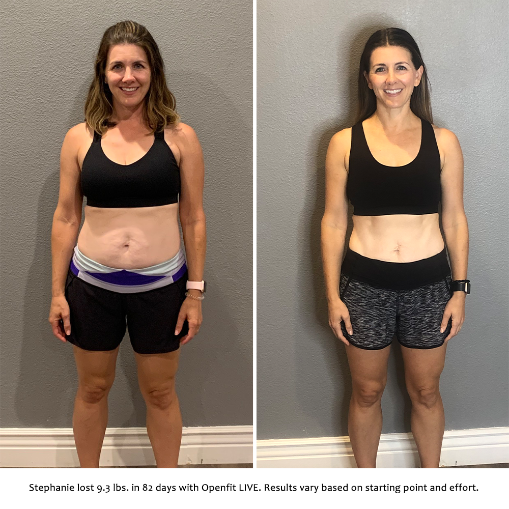 stephanie before and after   openfit live results