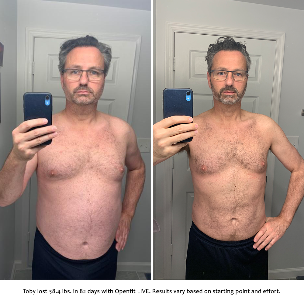 toby before and after   openfit live results