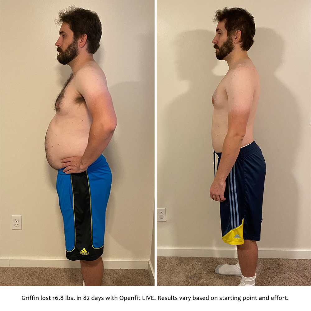 griffin before and after   openfit live results