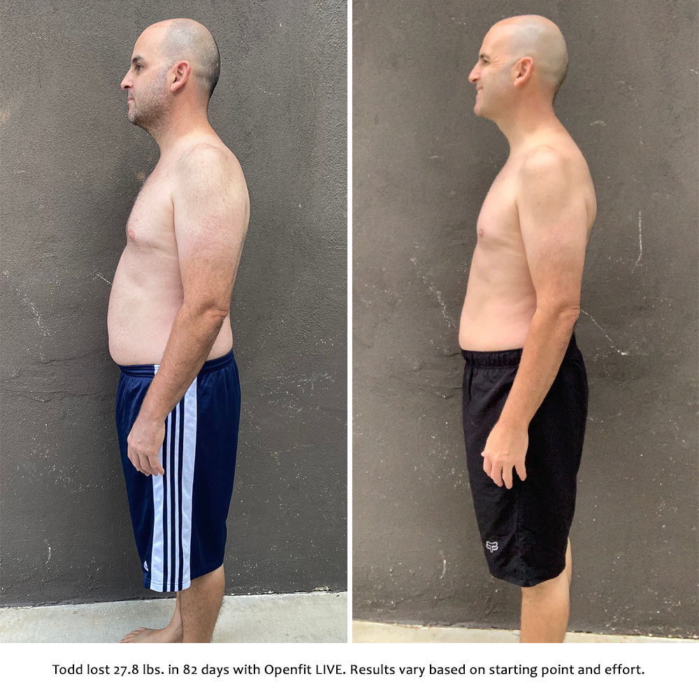 todd before and after   openfit live results