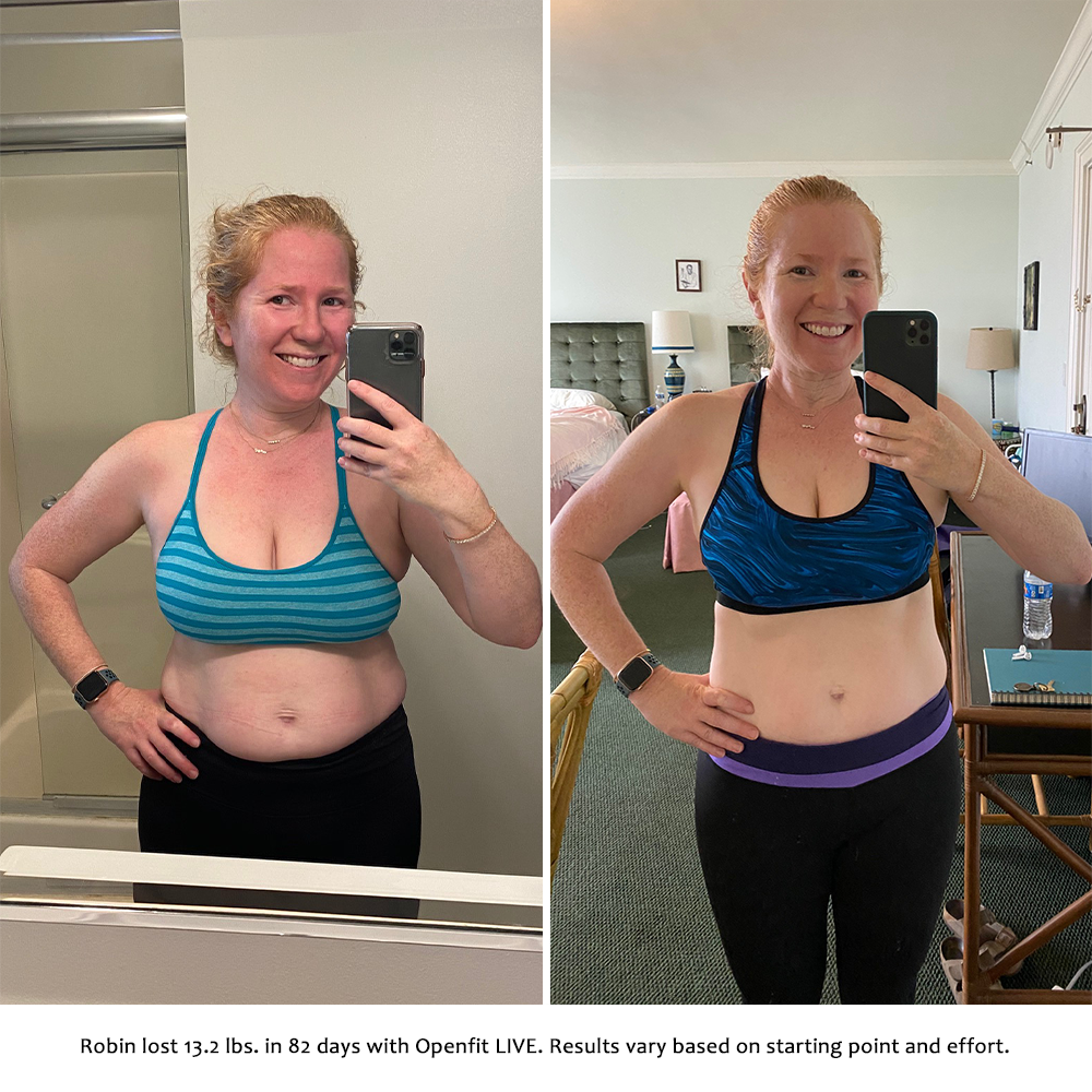 robin before and after   openfit live results
