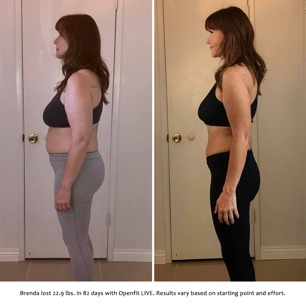 brenda before and after   openfit live results