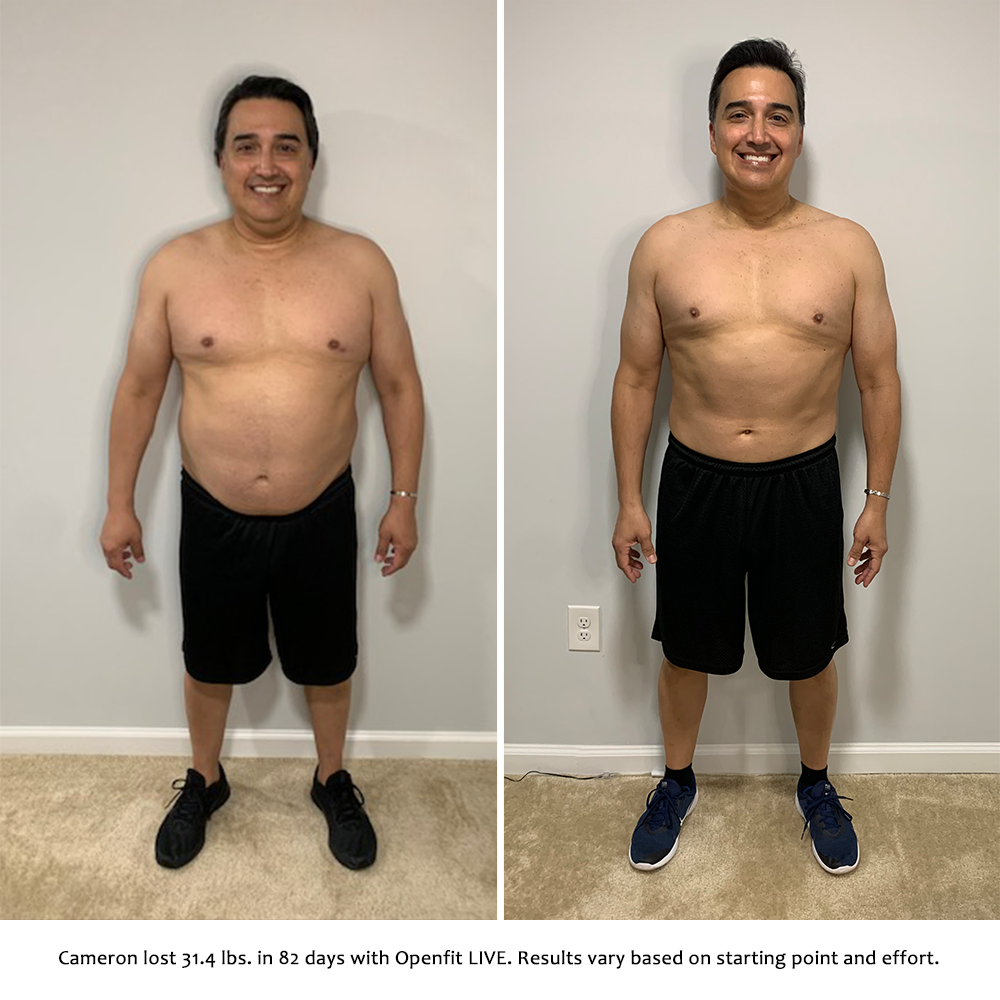 cameron before and after   openfit live results