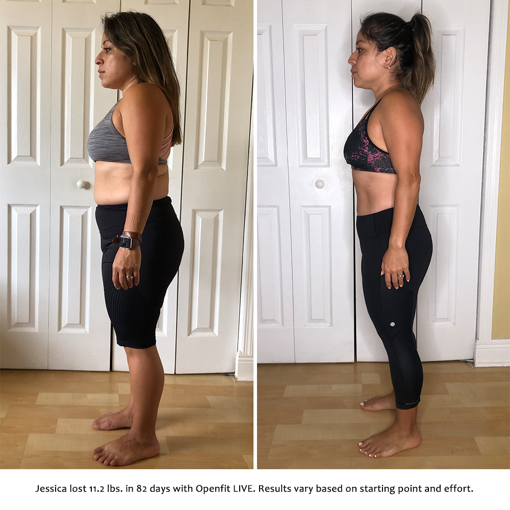 jessica before and after   openfit live results