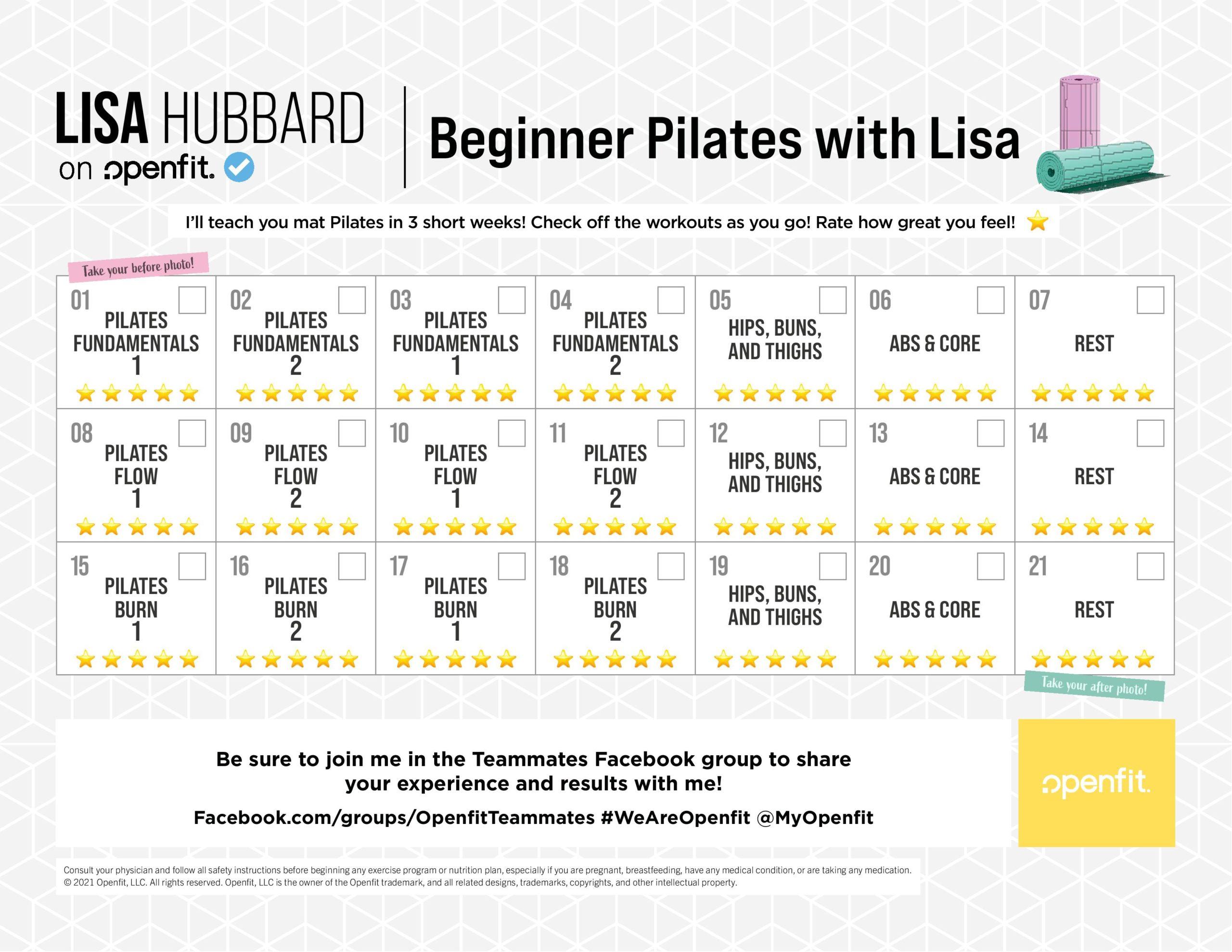 lisa hubbard program calendar