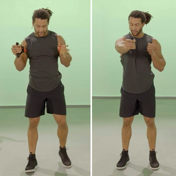 wrap around chest press | chest and tricep workout at home