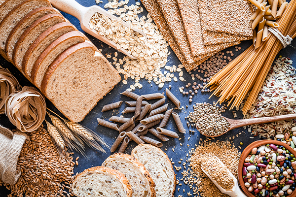 shot of different sources of carbs | why are carbs important