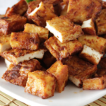 cooked tofu served on plate | how to cook tofu