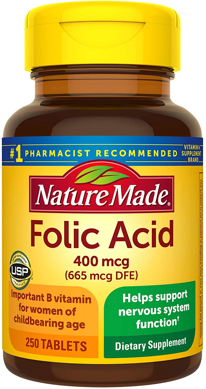 nature made folic acid supplement | folic acid vs folate