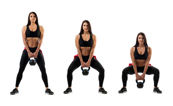 sumo squat progression | kettlebell squats