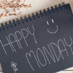 happy monday written on notebook | monday motivation quotes