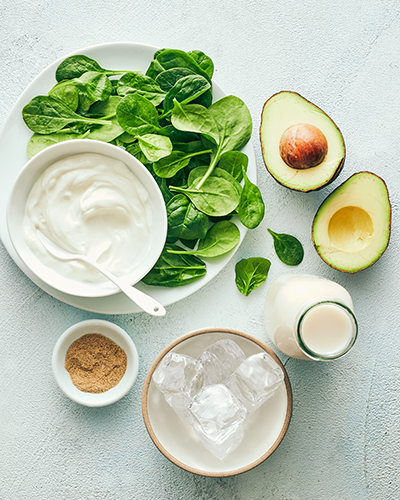 avocado and spinach smoothie ingredients | avocado and spinach smoothie