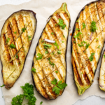 grilled eggplants resting on paper towel | how to cook eggplant