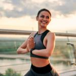 woman doing yoga after a run   post run yoga