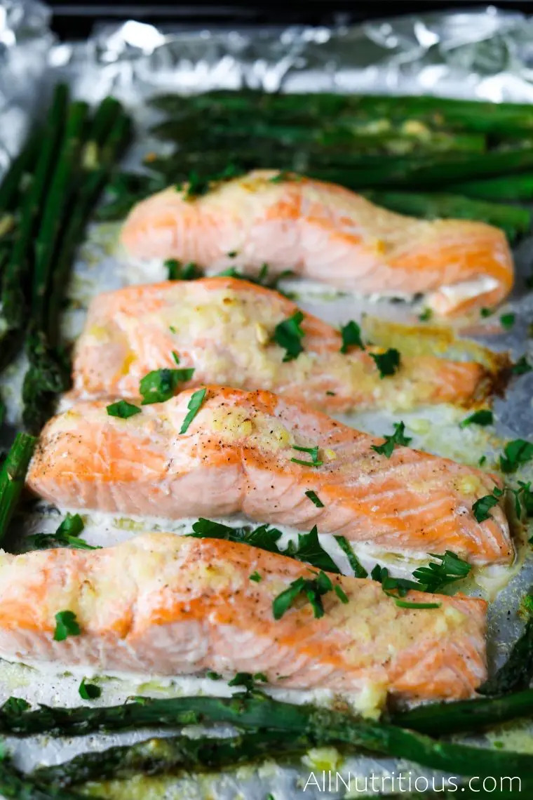 sheet pan salmon and asparagus recipe | passover recipes