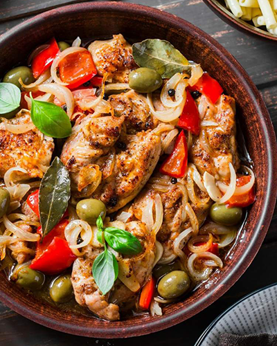slow cooker mediterranean chicken recipe | passover recipes