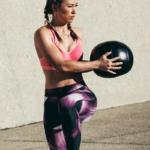woman doing medicine ball exercise | medicine ball workout