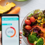 person eating salad and counting calories   calories to maintain weight
